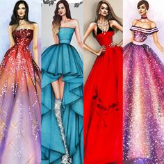 finally, as some of you already noticed, I updated my youtube channel with a new banner  (Oscar De la Renta, MissCouture babe, Betrendy, K.Doll Fashion illustrations)  Link is in my bio  #fashionillustrator #fashion #fashionsketch #artwork #designer #hautecouture #fashiondesign #drawing  #fashionillustration #artist