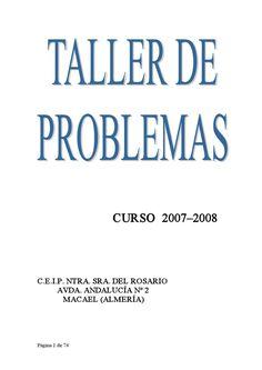 Taller de problemas Primaria