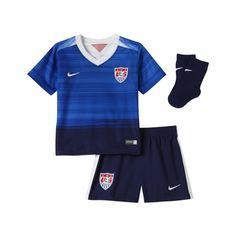 Nike USA Away Infant 2015 Soccer Kit (Game Royal/Loyal Blue/White)