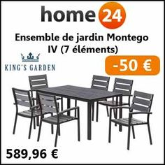 #missbonreduction; 50€ de réduction sur l'Ensemble de jardin Montego IV (7 éléments) chez Home24. http://www.miss-bon-reduction.fr//details-bon-reduction-Home24-i854755-c1836802.html