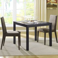 Black Friday 2014 Altra Furniture Multipurpose Parsons Table from Altra Furniture Cyber Monday Furniture Deals, Dining Room Furniture, Dining Chairs, Dining Table Design, Dining Table In Kitchen, Small Apartment Furniture, Esstisch Design, Loft, White Home Decor