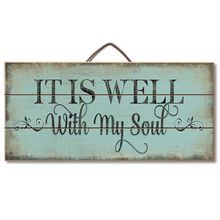 Ideas Pallet It Is Well With My Soul Wood Slatted Sign - Description It Is Well With My Soul Hanging Wood Sign x x Wood Slat Sign with Metal Hanger Perfect for an inspiration! Proudly Made in America Reclaimed Wood Signs, Wood Pallet Signs, Diy Wood Signs, Rustic Signs, Wooden Pallets, Wall Signs, Wooden Signs With Sayings, Homemade Wood Signs, Vintage Wood Signs