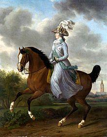 Equestrian portrait of Wilhelmina by Tethart Philipp Christian Haag hangs in the Rijksmuseum in Amsterdam