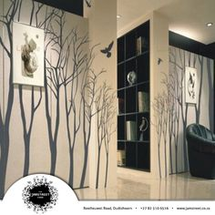Tree Wall Decals Wall Stickers kids decals nature room decor baby nursery winter trees on Wanelo Tree Decals, Vinyl Wall Decals, Wall Stickers, Nursery Decals, Inspiration Wand, Winter Trees, Decoration Design, Home And Deco, Wall Treatments