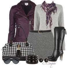Mini Skirt & Purple