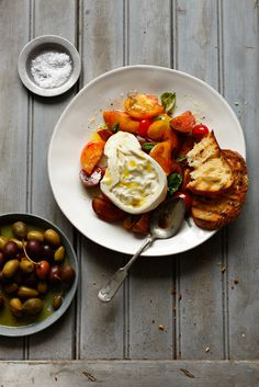 Fresh, Handmade Burrata with Heirloom Tomatoes