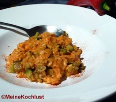 Paprika Risotto mit Zucchini & Aubergines,Meine Kochlust