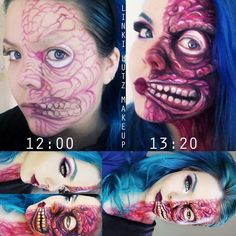 Two faced makeup