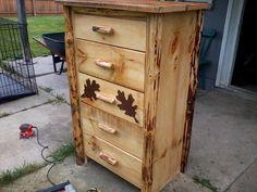 handmade rustic log cedar dresser by WOODSMANCREATIONS on Etsy, $250.00