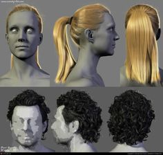 Male and Female Hairstyles by (Woody) Dani Garcia | 3D | CGSociety