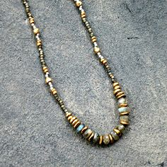 Beaded Gemstone Necklace Boho Chic Layering Necklace by JayCuneo, $50.00