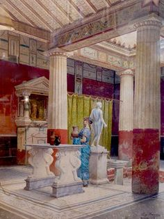 Roman Architecture, Architecture Drawings, Historical Architecture, Ancient Architecture, Ancient Roman Houses, Ancient Rome, Ancient Greece, Ancient Art, Roman History
