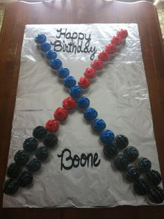 Boone's light saber cake for his 11th birthday