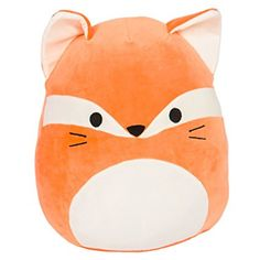 Kellytoy Squishmallow Fox Super Soft Plush Toy Pillow Animal Pet Pal Buddy (James The Orange) ** Read more at the image link. (This is an affiliate link) Fox Stuffed Animal, Cute Stuffed Animals, Kawaii Plush, Cute Plush, Pillow Pals, Cute Squishies, Paw Patrol Toys, Orange Pillows, Animal Birthday