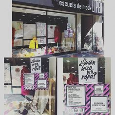 Escuela de Moda Liper, Spain Students set up a Fashion Revolution window display at their school and also took photos with posters. Revolution, Something To Do, Spain, Students, Window, Posters, Display, Education, School