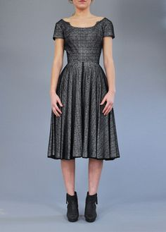 Christmas Party Dress - Trends 2013 50s Lace Swing Dress. Vintage Clothing Online. Vintage Deli Clothing