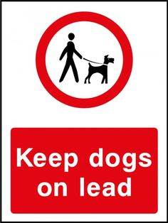 Loose dog warning sign stickers reflective countryside farm  business decals