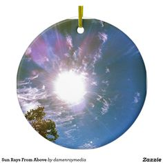 Sun Rays From Above Double-Sided Ceramic Round Christmas Ornament