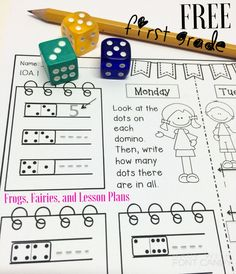 First Grade Math Homework Freebie! This resource was carefully designed to review first grade math skills throughout the year. Just one page per week, printer friendly, and easy to use. Download your free 2 week sample now!
