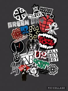 my lockscreen -- all the bands I like, even the ones I only occasionally listen to