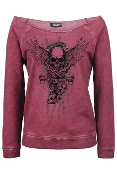 Flying Skull Sweatshirt by Rock Rebel ~ EMP
