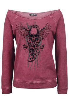 Flying Skull Sweatshirt by Rock Rebel ~ EMP