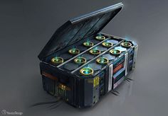 Energy Storage Crate Concept by HavoccDesign
