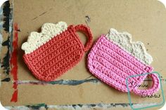 [Free Pattern] Bright And Precious Cocoa Coasters To Cheer You Up All Day Long - Knit And Crochet Daily