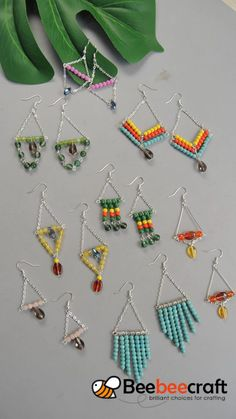 Beebeecraft tips on making various types of chain earrings diy jewelry earrings beads wire wrap new ideas diy Wire Jewelry Designs, Beaded Jewelry Patterns, Jewelry Crafts, Jewelry Ideas, Bracelet Patterns, Handmade Wire Jewelry, Handmade Copper, Bead Patterns, Earrings Handmade