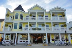 Mackinac Island -- This is where we stayed.  Third floor far left.  Beautiful! -- Had great views.