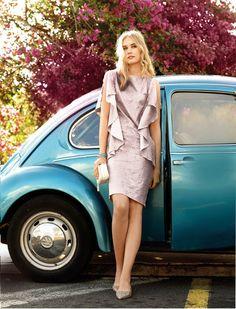 BURDA - Side Ruffle Dress #103A-B