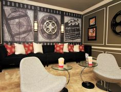 Home Theater Setup with Home Theater Seating Theater Room Decor, Movie Theater Rooms, Home Theater Setup, Home Theater Seating, Home Theater Design, Cinema Room, Dream Theater, Theatre, Kino Theater
