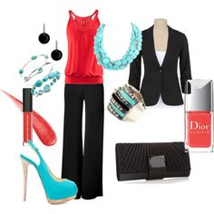 i want this outfit for work!! except the shoes need to be flats because i'd bust my butt in those!!