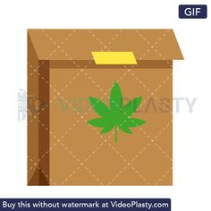 A GIF icon animation of a brown sealed paper bag with a green marijuana leaf printed on it Loop Gif, Marijuana Leaves, Leaf Prints, Animation, Printed, Paper, Brown, Bags, Handbags