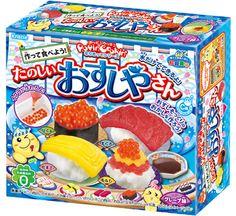 DIY Candy making kit Popin Cookin Happy Kitchen Sushi Kracie Japan snack sweets Japanese Sushi, Japanese Candy, Japanese Sweets, Japanese Snacks, Kit Sushi, Sushi For Kids, Candy For Sale, Candy Sushi, Gummi Candy