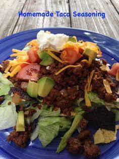 homemade taco seasoning-GMO free