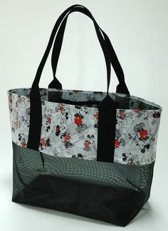 Large Beach Tote Picnic Camping Mesh by TwistedThreadsQuilts