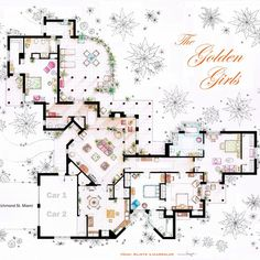 Golden Girls Floor Plan $19.99 (I love it!)