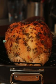 Herb Roasted Turkey Breast. Just might do this for Thanksgiving this year.