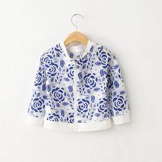 百搭~2015年韓版童裝夏季女童圓領花朵棉質外套寶寶防曬拉鏈開衫