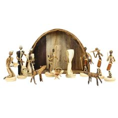 Banana Fiber Nativity from Kenya // cometogethertrading.com