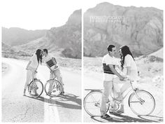 engagement photography :: bicycles :: pose
