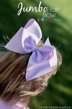 Jumbo Hair Bow Tutorial - The Ribbon Retreat Blog Hair Bow Tutorial, Ribbon Bow Tutorial, Diy Tutorial, Making Hair Bows, Boutique Hair Bows, Baby Boutique, Jojo Hair Bows, Kids Hair Bows, Jojo Bows