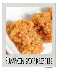 Pumpkin Spice Krispies | 17 Delicious Snacks To Make This Fall