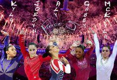 Team USA Us Gymnastics Team, Gymnastics Quotes, Fab Five, Female Gymnast, Team Usa, Nerd Geek, Michael Jordan, Cheer, Wrestling