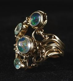 This ring was designed and made by Susan Vedadi in 2000.