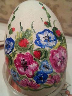 2015 Święta Wielkanocne.Wydmuszki gęsie malowałam akrylowymi farbami .