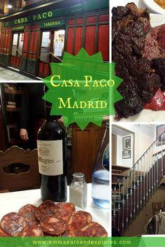 Casa Paco Restaurant, Madrid, Spain by Emma Eats & Explores