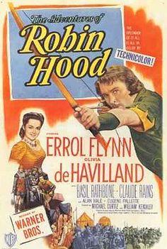 5/15/14 8:13a Warner Bros. ''The Adventures of Robin Hood'' Errol Flynn Olivia de Havilland 1938 Poster