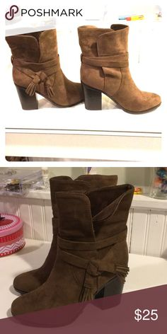 New suede boots Condition: New boots, never used.  Color: brown Material: suede Size: 7 sparker & sky Shoes Heels